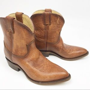 Frye | NEW Billy Short Cognac Washed Brown Boots 8